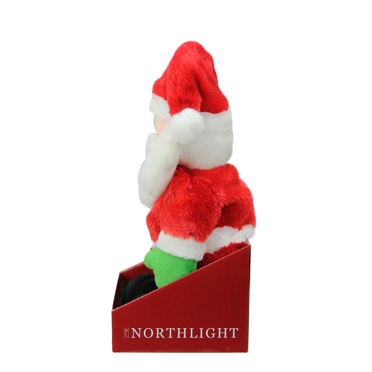 12 Animated Tickle N Laugh Santa Claus Plush Christmas Figure