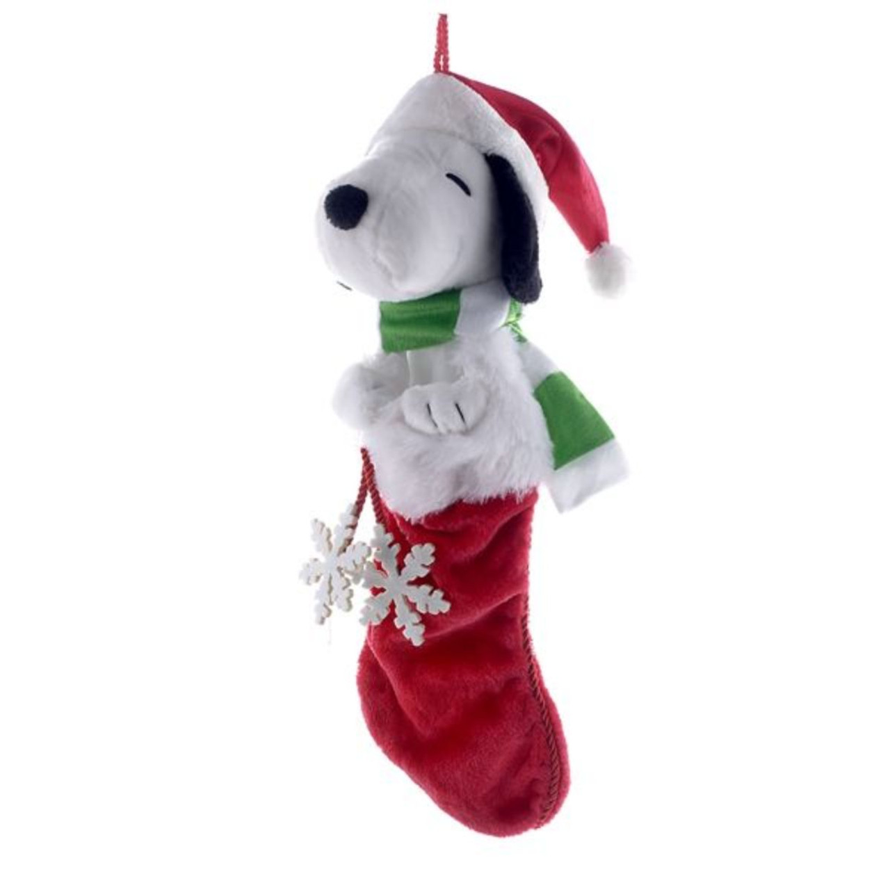 Peanuts Snoopy With Snowflake Christmas Stocking 21 Christmas Central