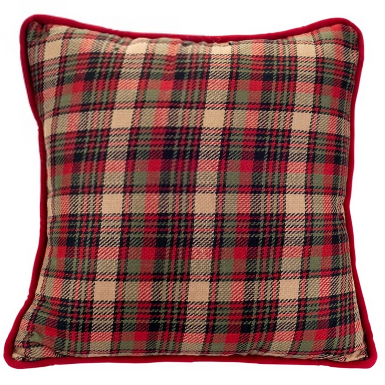 Plaid Christmas Pillows.Set Of 2 Red And Green Plaid Design Throw Pillows 16 31488690