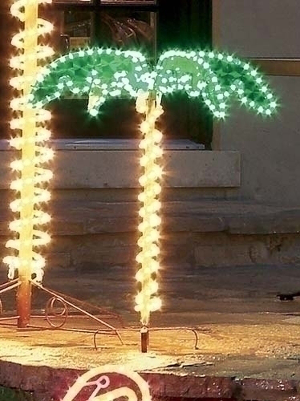Palm Tree Lights Christmas.4 5 Tropical Lighted Holographic Rope Light Outdoor Palm Tree Yard Decoration 6922788