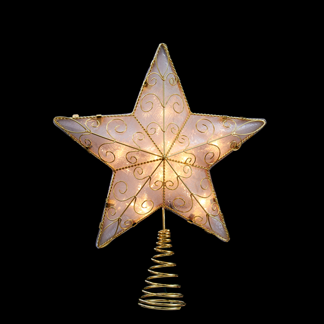 11 75 Lighted Gold Reflector Star Christmas Tree Topper Clear Lights 31341805