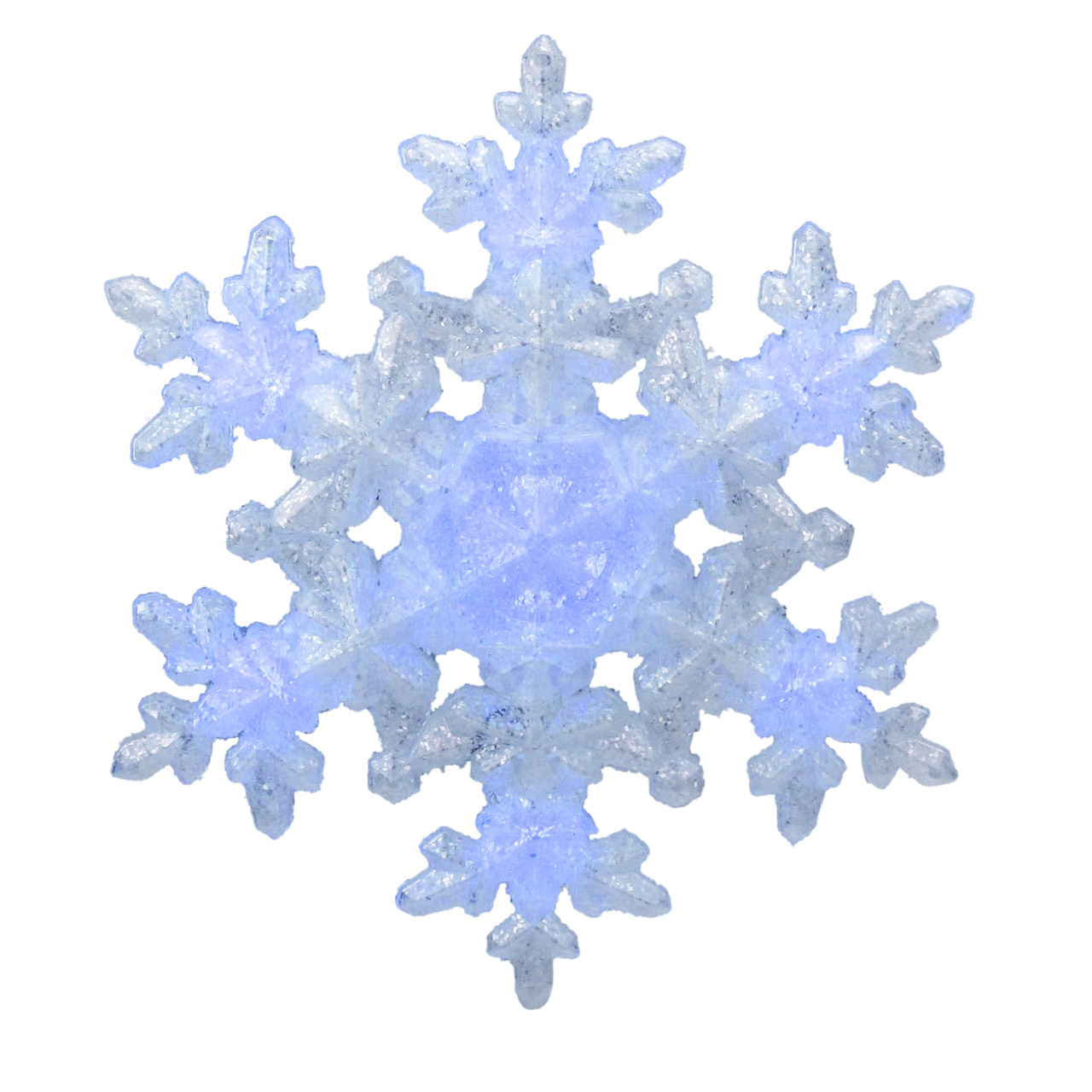 9 25 Led Lighted White Blue Sparkly Snowflake Christmas Tree Topper Clear Lights Christmas Central