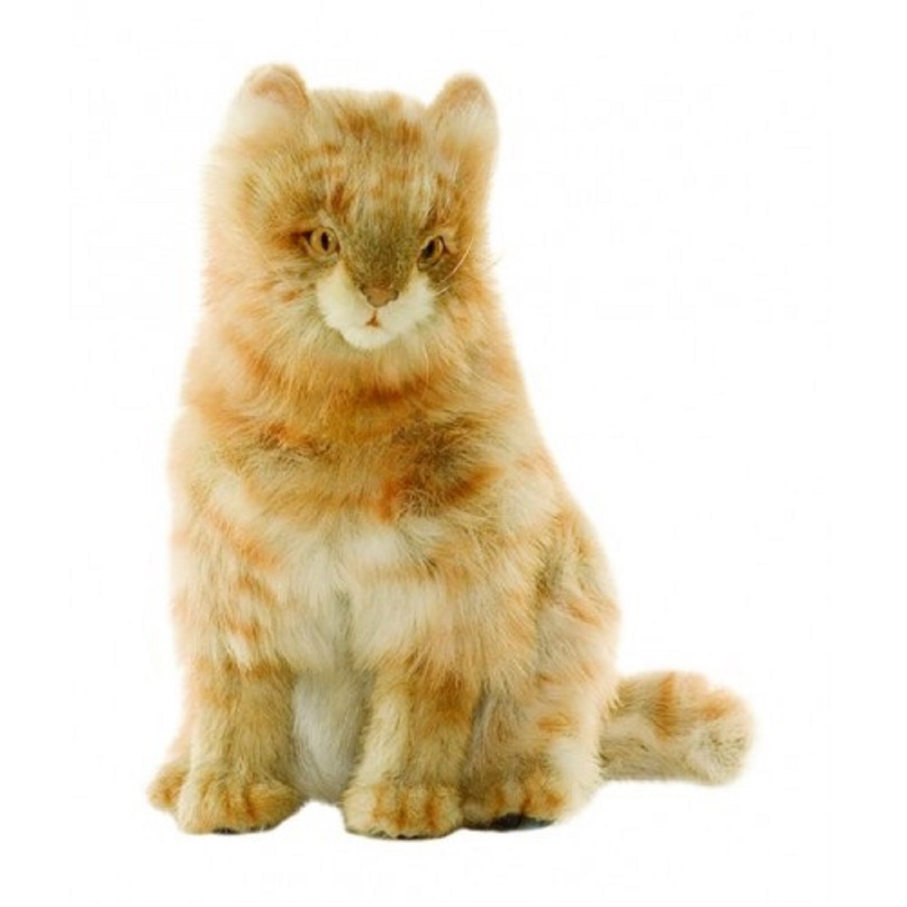 Pack Of 2 Life Like Handcrafted Extra Soft Plush Tan Calico Cat