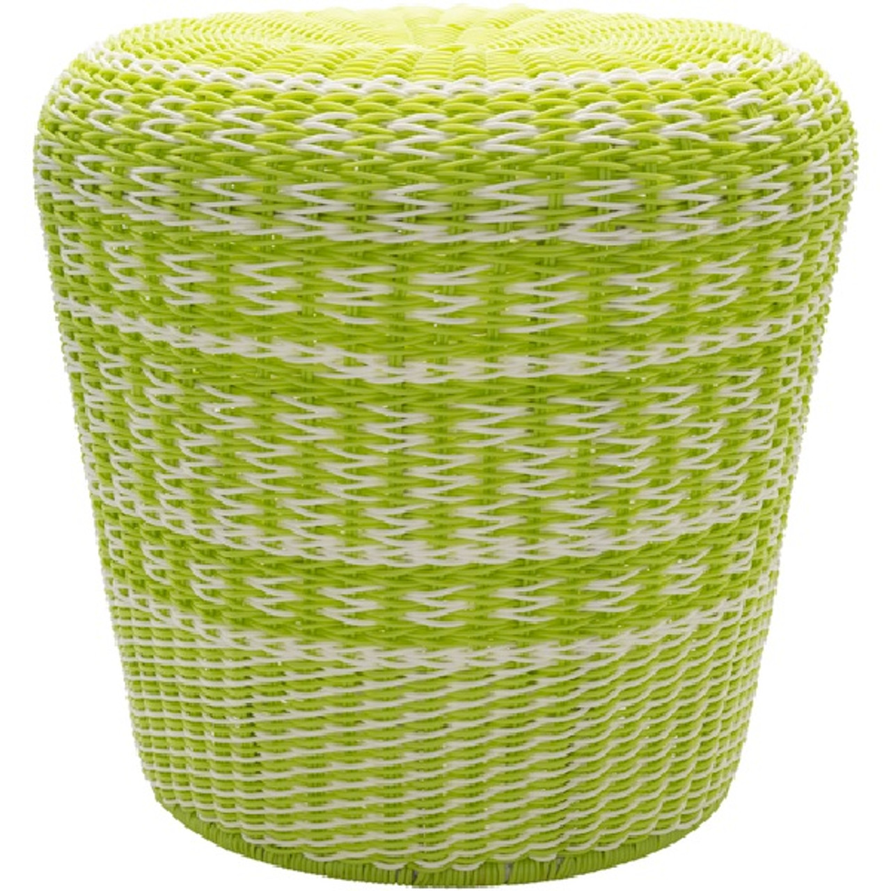 Swell 18 Parkdale Lime Green And White Outdoor Decorative Patio And Garden Stool 32216275 Pabps2019 Chair Design Images Pabps2019Com