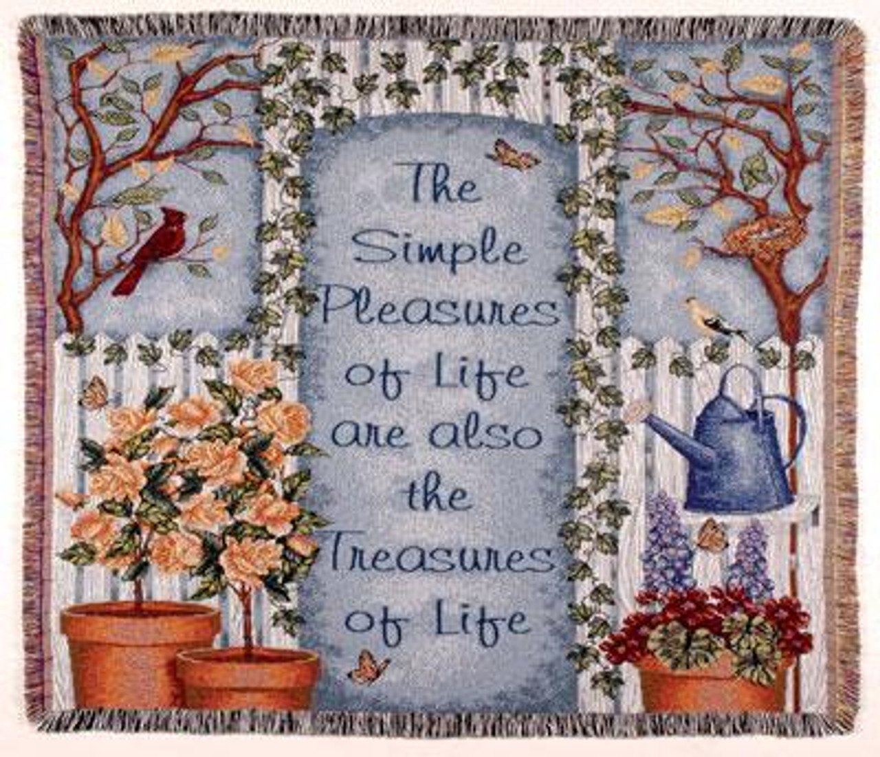 Simple Pleasures Life S Treasures Tapestry Throw Blanket 50 X 60 Christmas Central