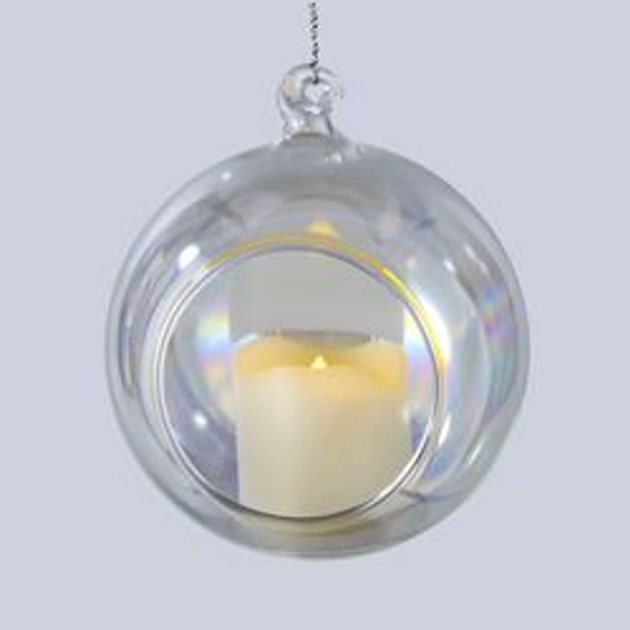 Pack Of 6 Battery Operated Votive Candles In Iridescent Glass Ball Christmas Ornaments 3 5 31341799