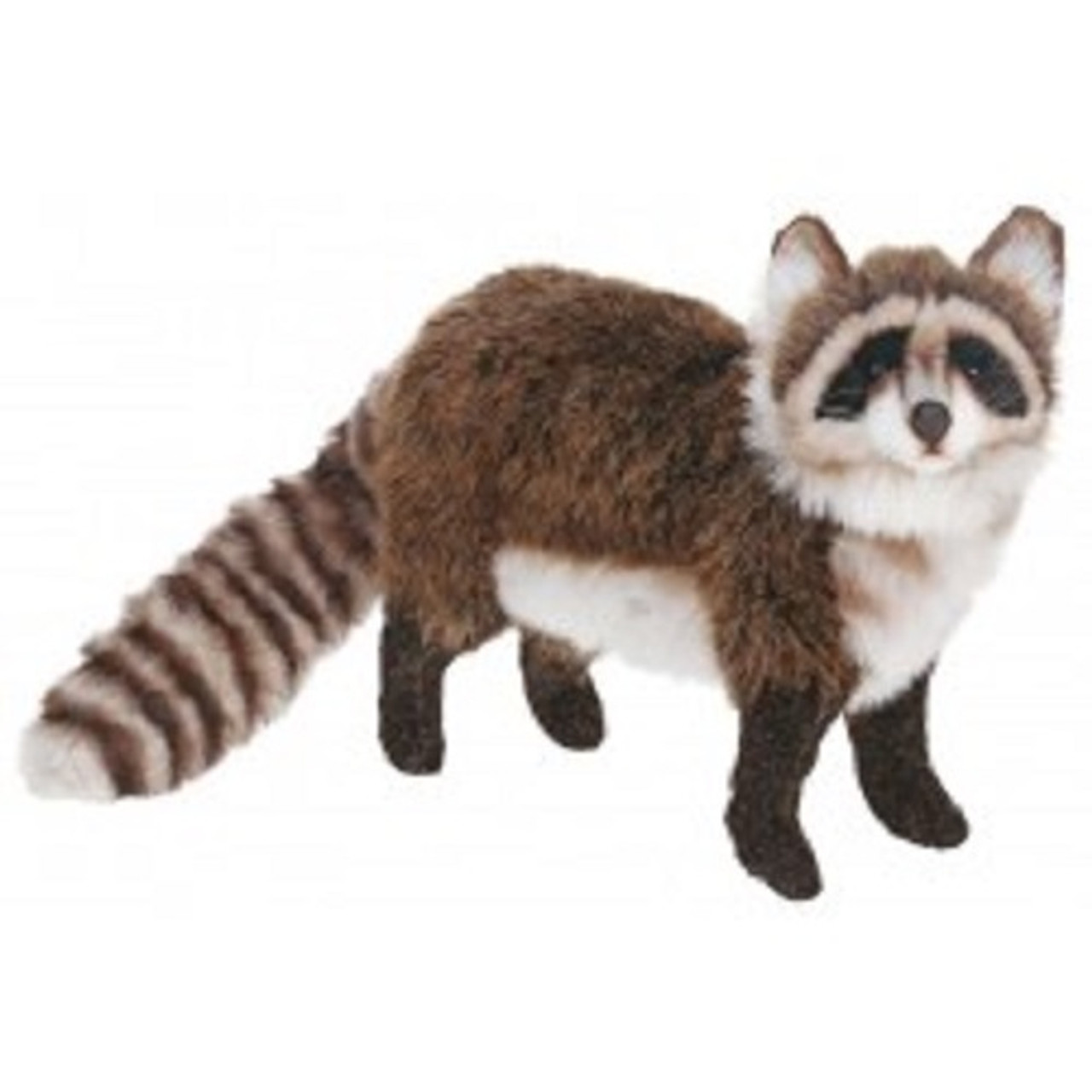 Set Of 2 Life Like Handcrafted Extra Soft Plush Standing Raccoon