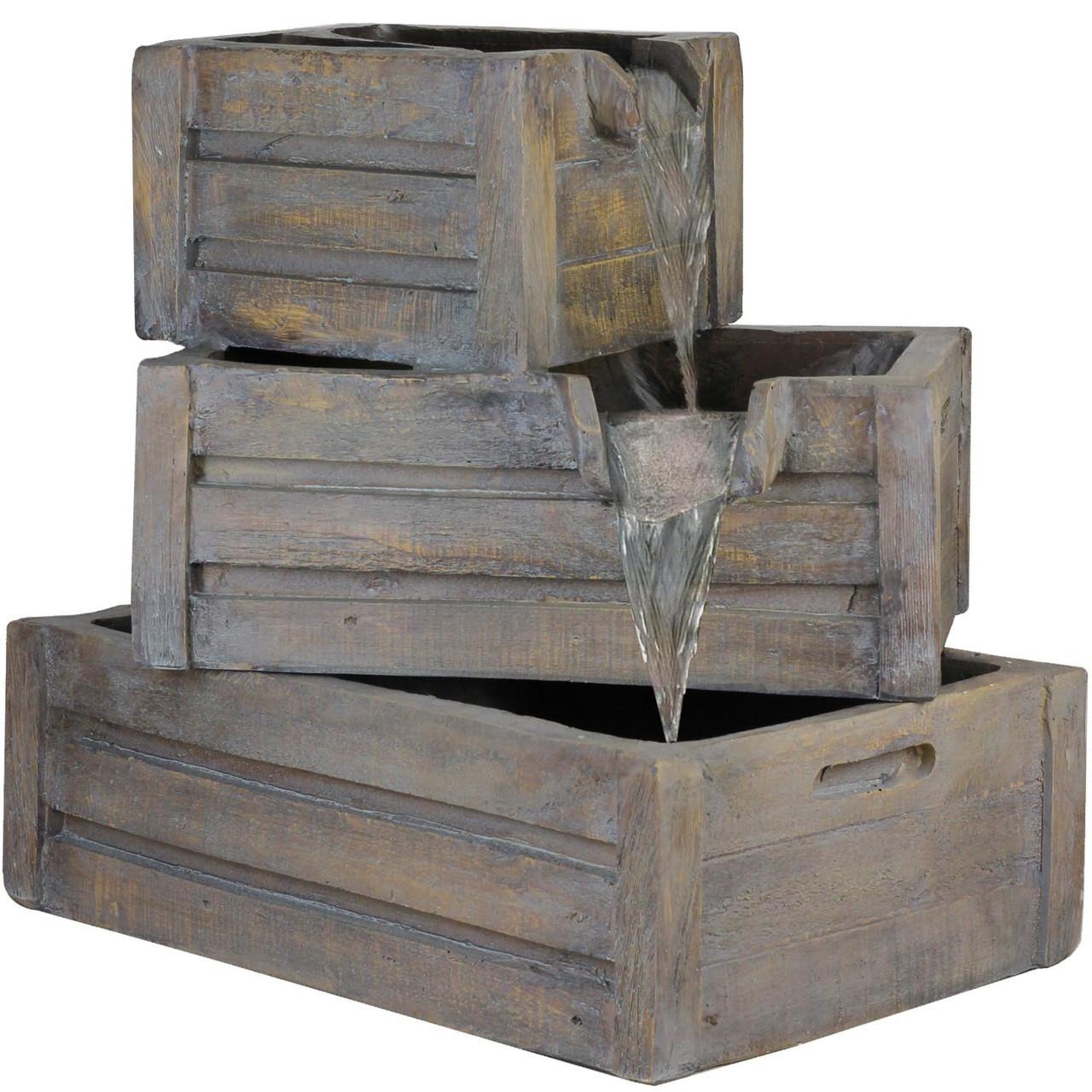 21 Three Tier Planter Boxes Outdoor Patio Garden Water Fountain