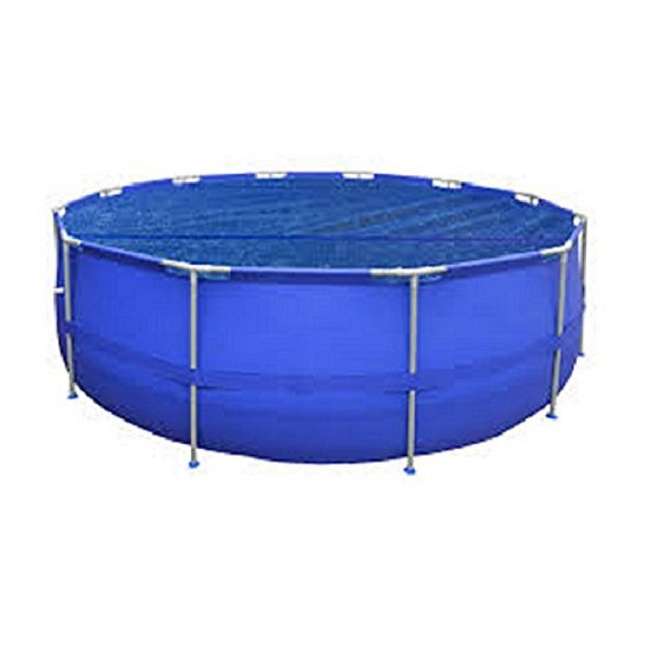 17\' Blue Round Floating Solar Cover for Steel Frame Swimming Pool ...