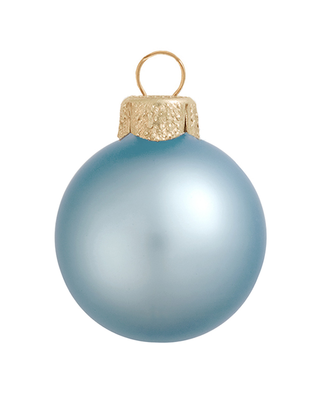 40ct Matte Sky Blue Glass Ball Christmas Ornaments 1 5 40mm 30939476