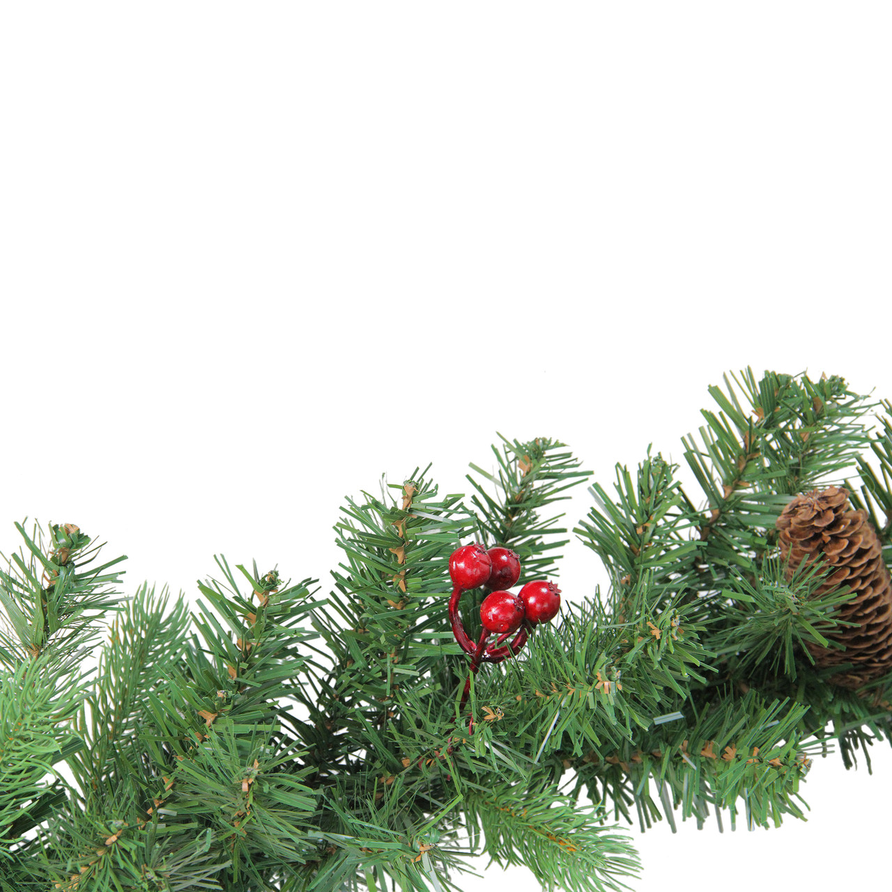 9 X 10 Noble Fir With Berries Artificial Christmas Garland Unlit 31450693