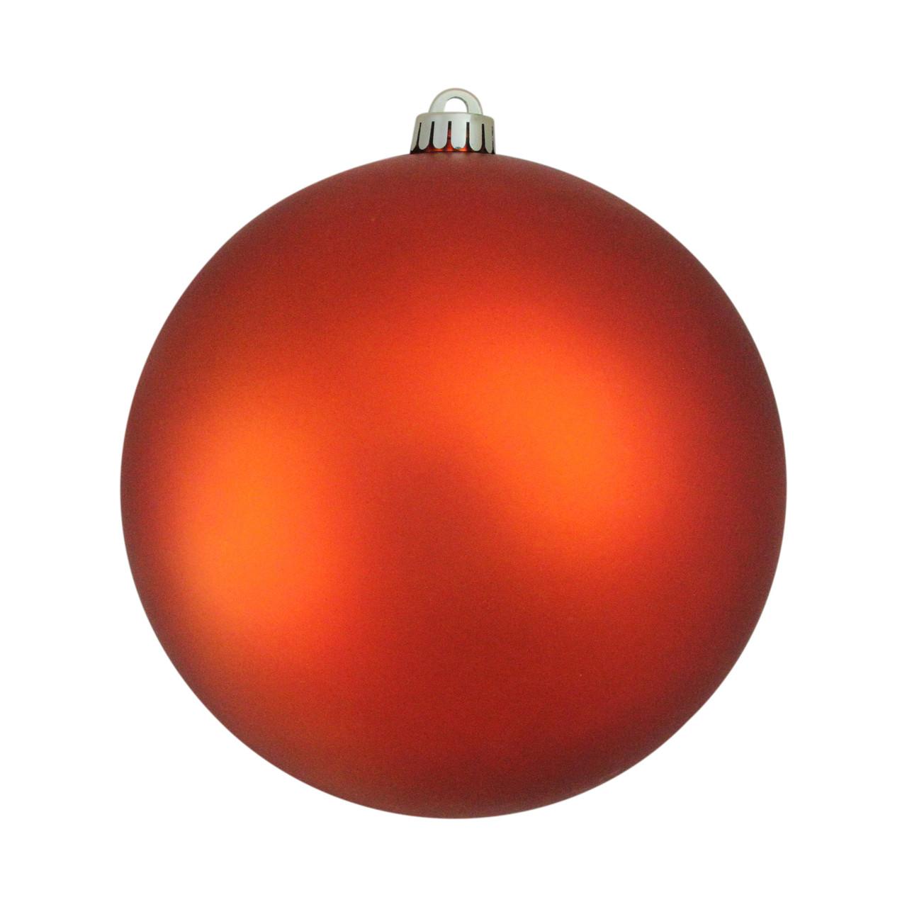 Burnt Orange Matte Shatterproof Christmas Ball Ornament 8 200mm Christmas Central