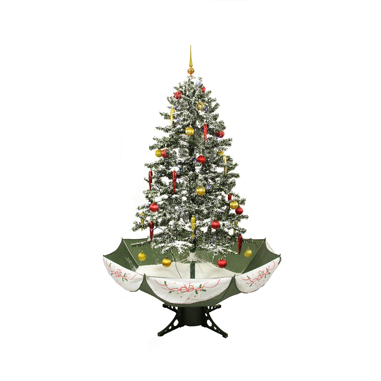 Pre Lit Led Lights Christmas Tree: 5.5' Pre-Lit Medium Musical Snowing Artificial Christmas