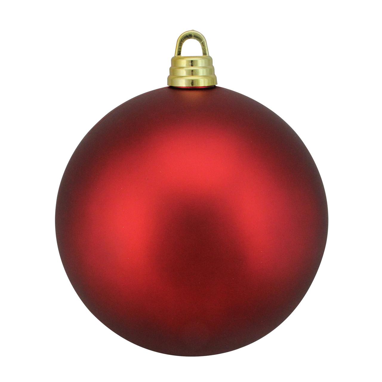 Red Hot Shatterproof Matte Christmas Ball Ornament 12 300mm Christmas Central