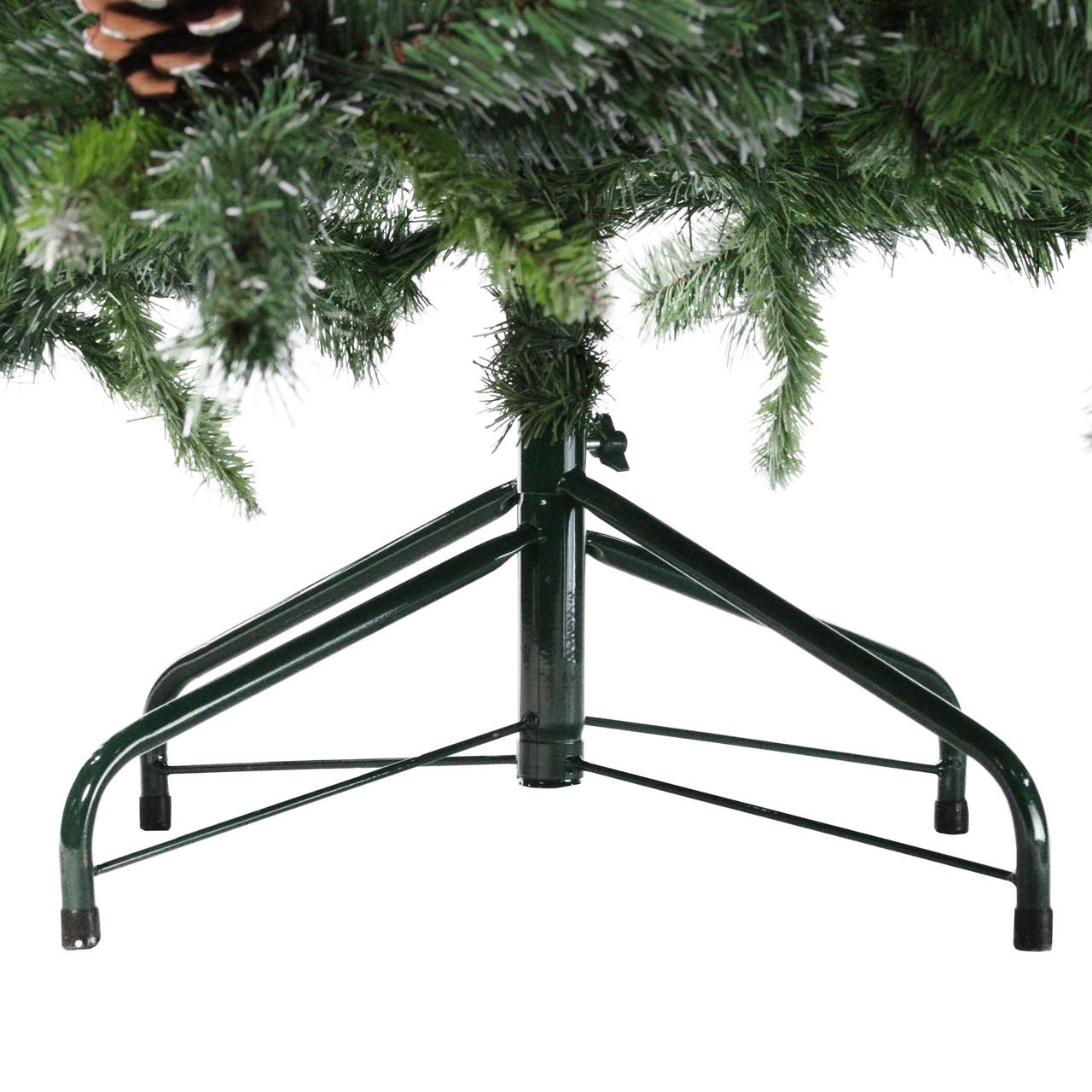 65 Snowy Delta Pine With Pine Cones Artificial Christmas Tree