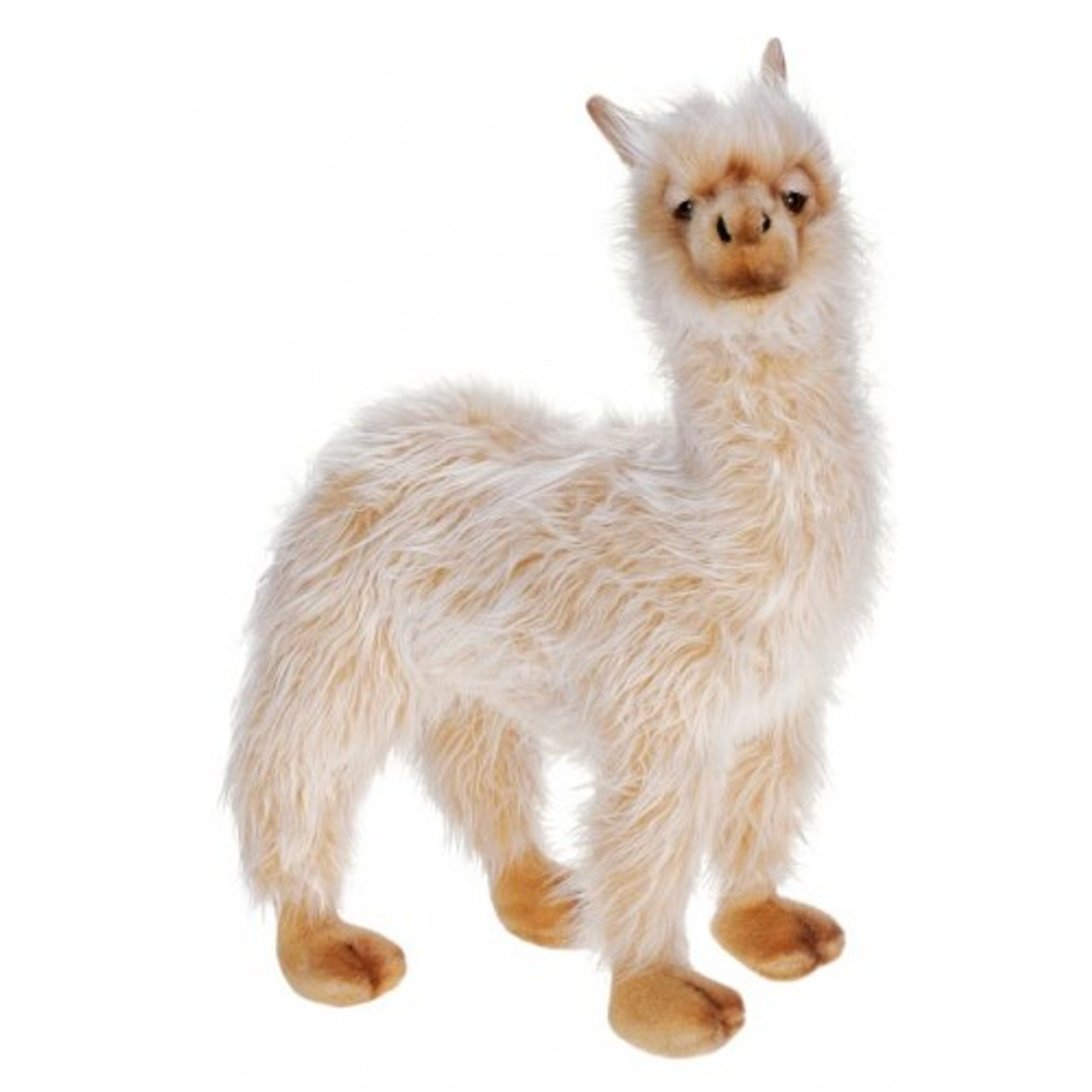 Set Of 2 Lifelike Handcrafted Extra Soft Plush Llama Stuffed Animals