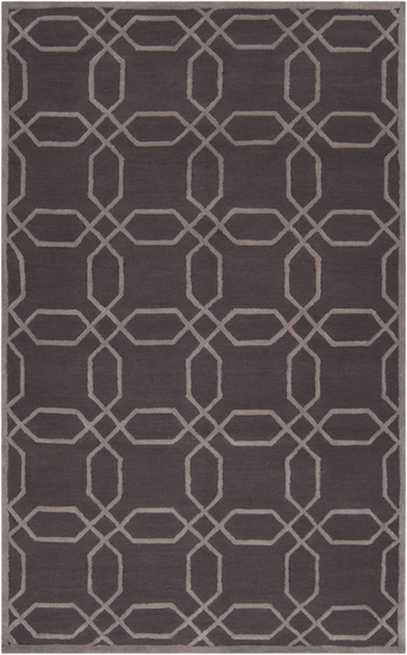 8' Calming Cosmeas Bistre Brown and Beige Round Hand Hooked Area Throw Rug  - 30954534
