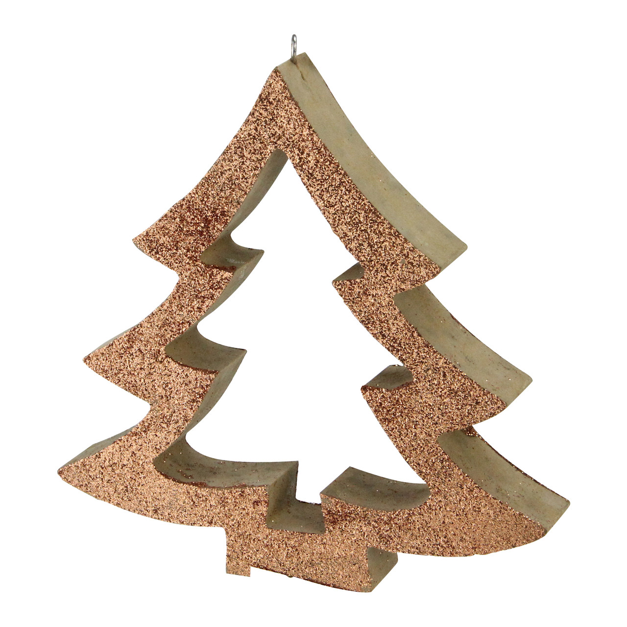 7 Copper Glittered Cutout Tree Christmas Ornament 32621876