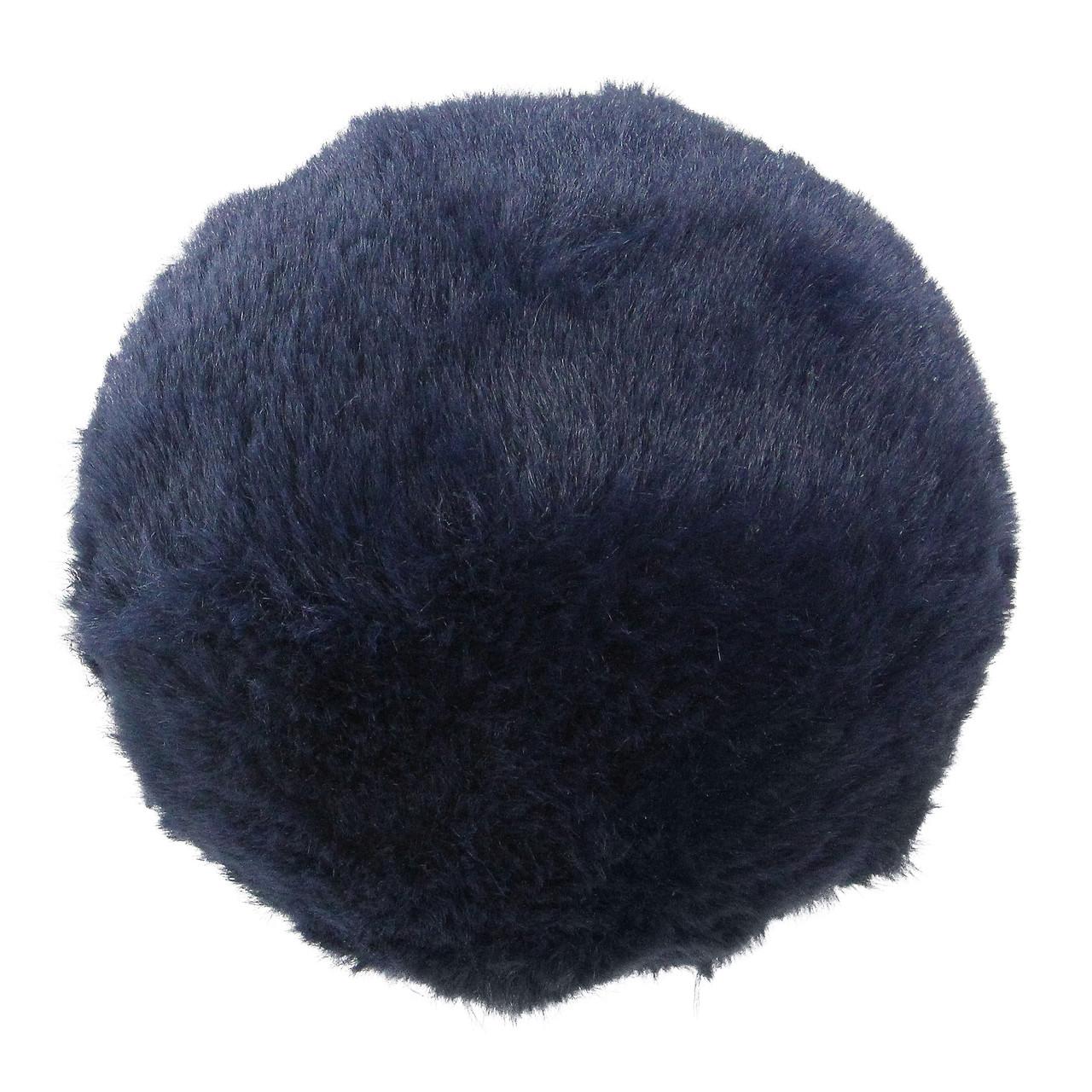 4 5 Navy Blue Faux Fur Ball Christmas Ornament Decoration 32627488