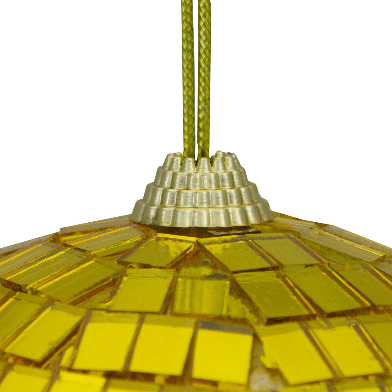 Gold Mirrored Glass Disco Ball Christmas Ornament 150mm 32631786