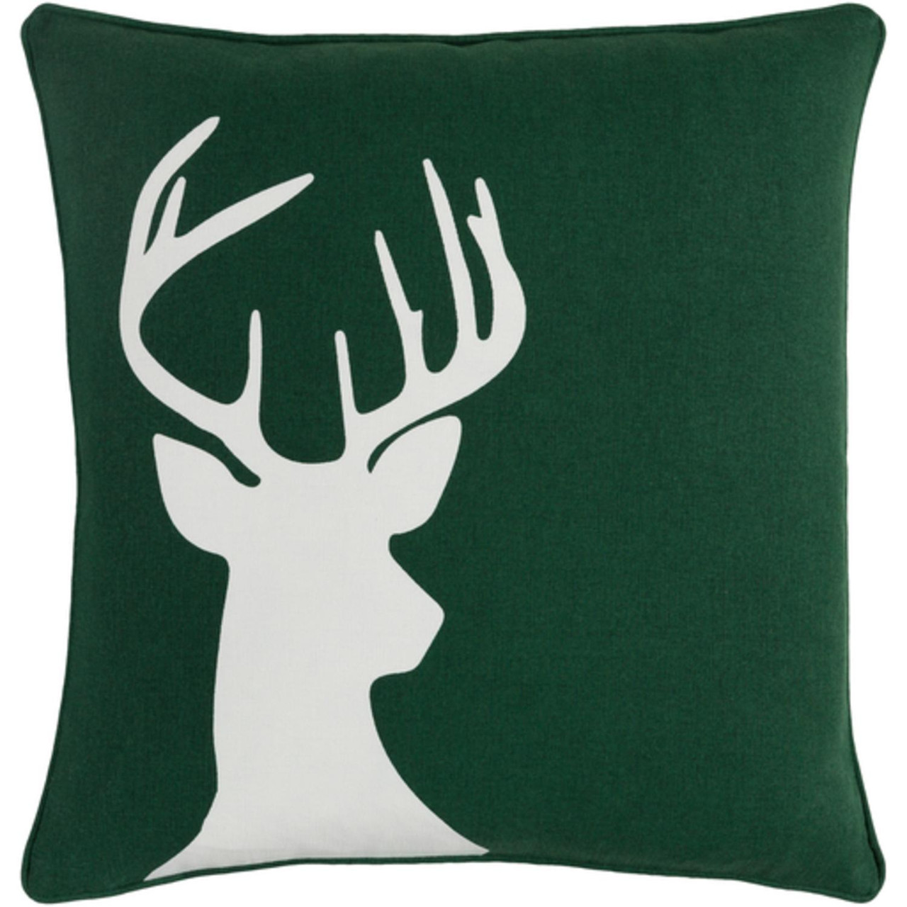 18 Snow White Forest Green Decorative Country Rustic Holiday Throw Pillow Cover Christmas Central