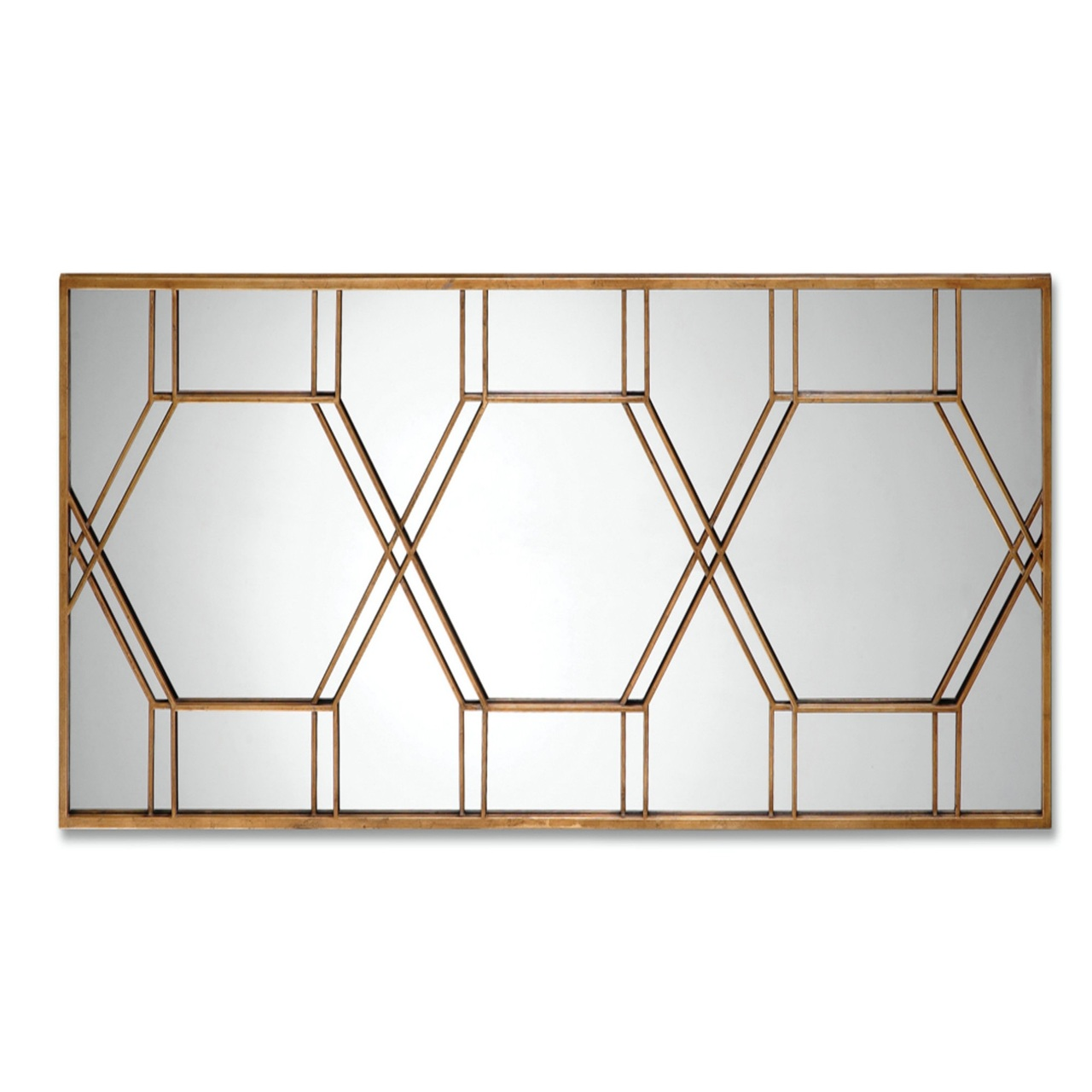 70 Decorative Rectangular Wall Mirror With Narrow Metal Antique Gold Leaf Frame 31495032