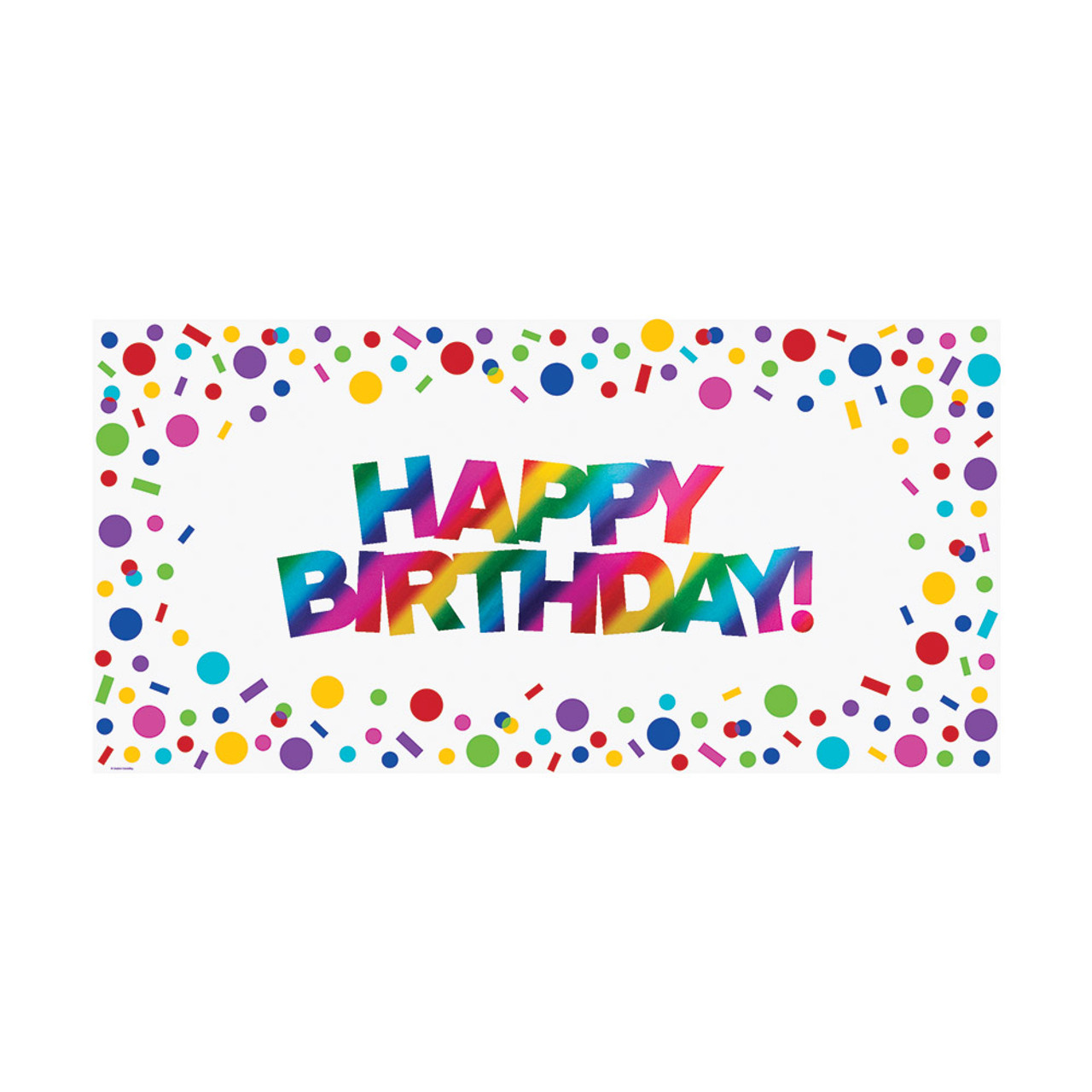 Club Pack of 12 Multi Color Rainbow Happy Birthday Sign ...