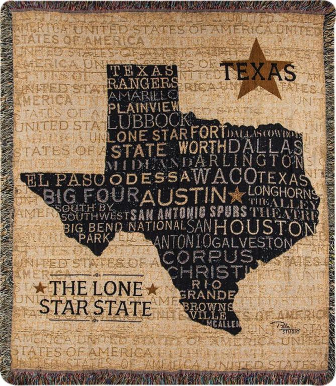 Simply Home Texas Lone Star State Tapestry Throw Blanket Afghan 50 X 60 Usa Made Home Kitchen Blankets Throws Kalingauniversity Ac In