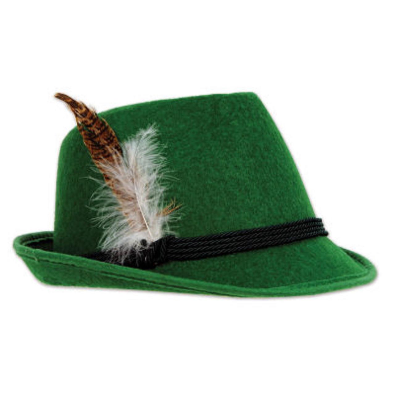 fa8aaee7 Pack of 6 Green Felt Oktoberfest Alpine Hats Costume Accessories ...