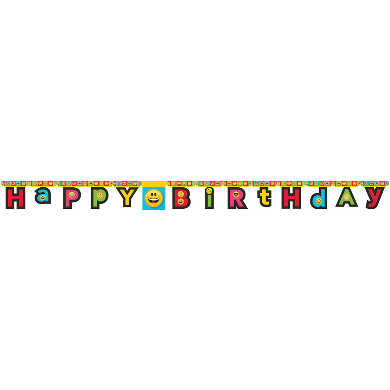 Club Pack Of 12 Vibrantly Colored Show Your Emoji Happy Birthday