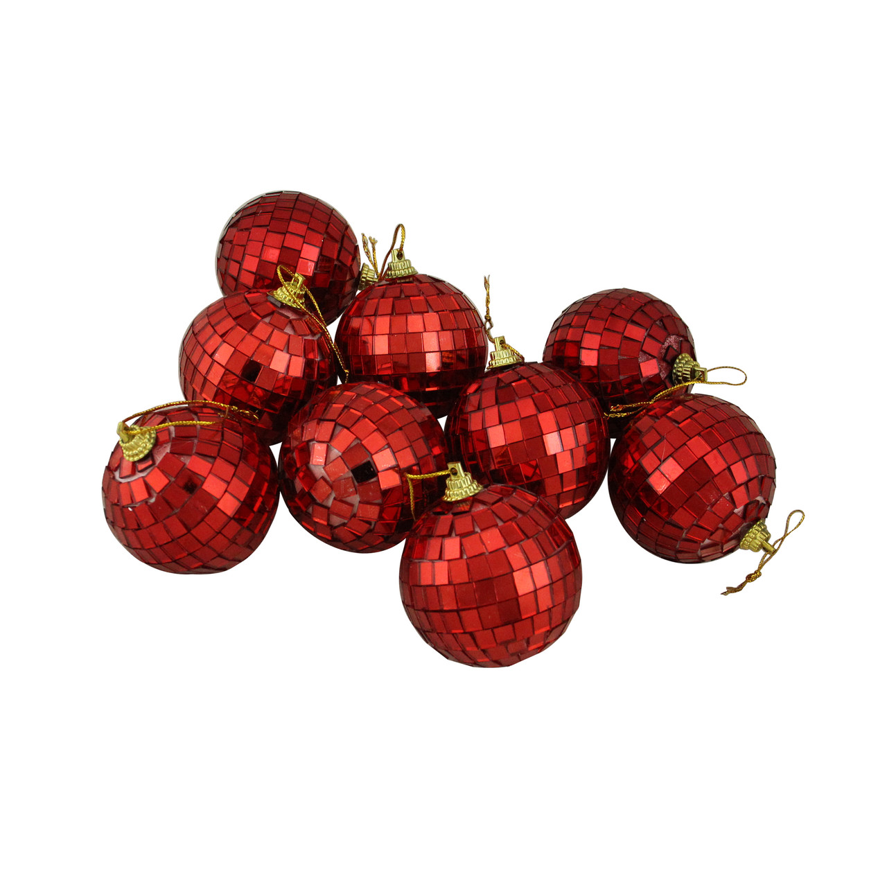 Christmas Disco Ball.9ct Red Hot Mirrored Glass Disco Ball Christmas Ornaments 2 5 60mm 32756939