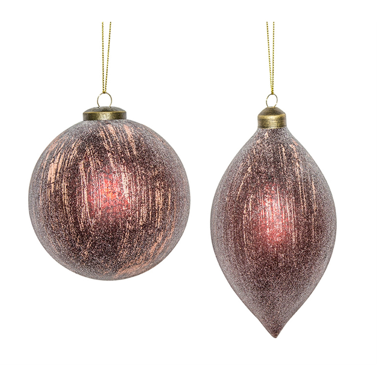 Set Of 6 Maroon Decorative Hanging Glass Ball And Finial Ornaments 7 25 32795377