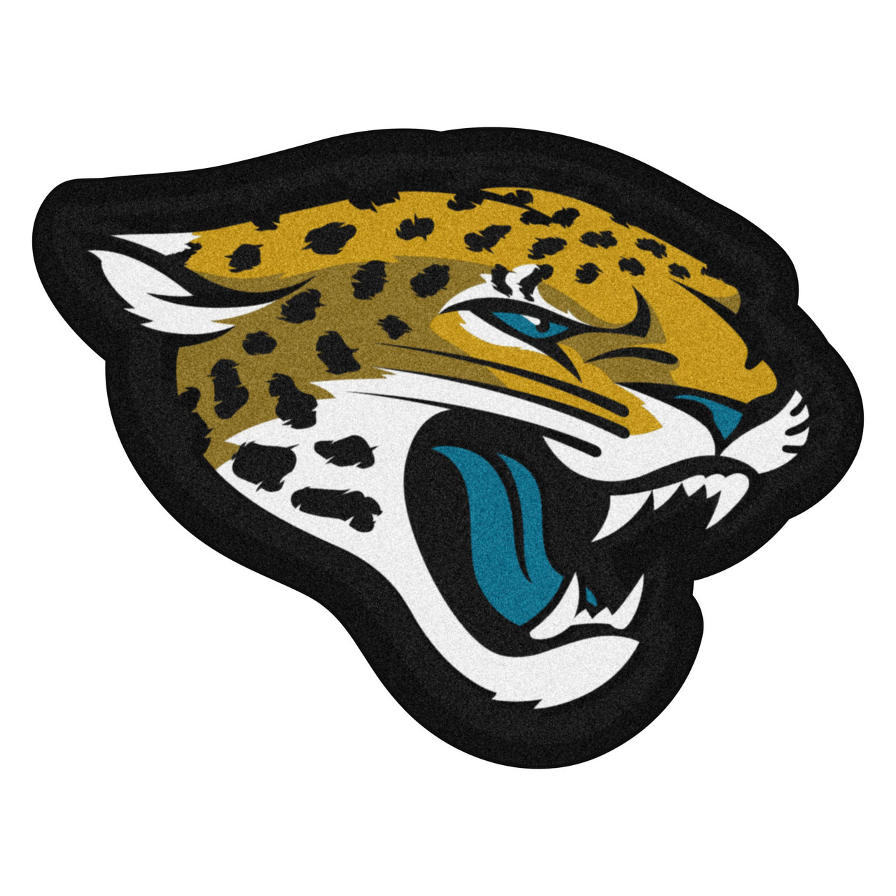 36 X 27 5 Yellow Black Nfl Jacksonville Jaguars Mascot Logo Area Rug Christmas Central