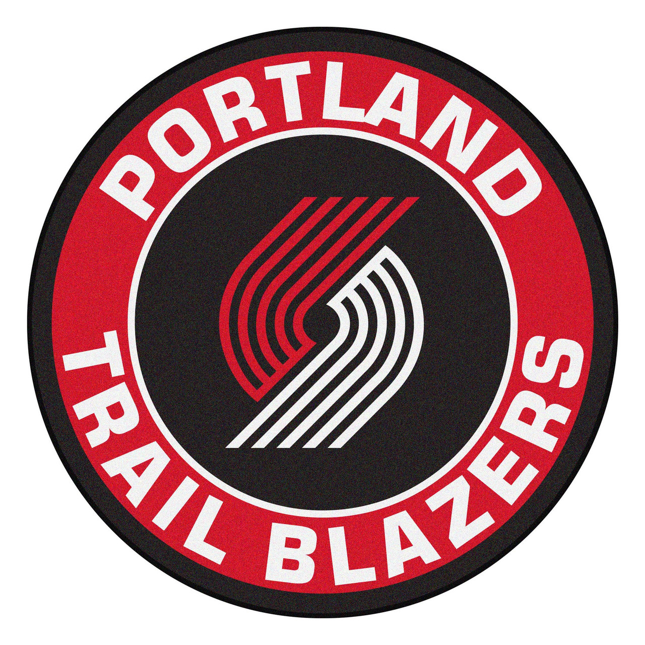 27 Black Red Nba Portland Trail Blazers Rounded Door Mat Christmas Central