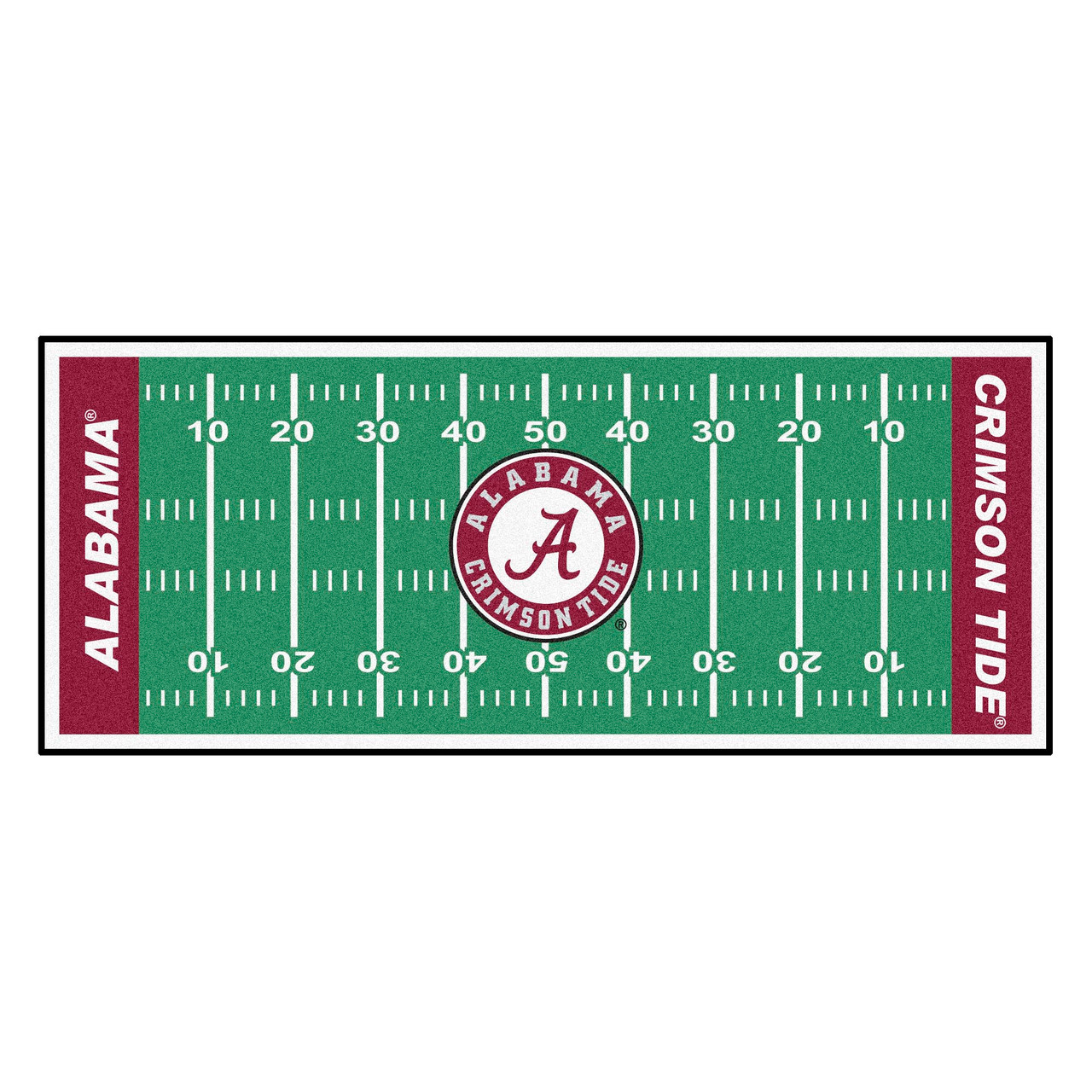 Ncaa University Of Alabama Crimson Tide Football Field Runner Mat