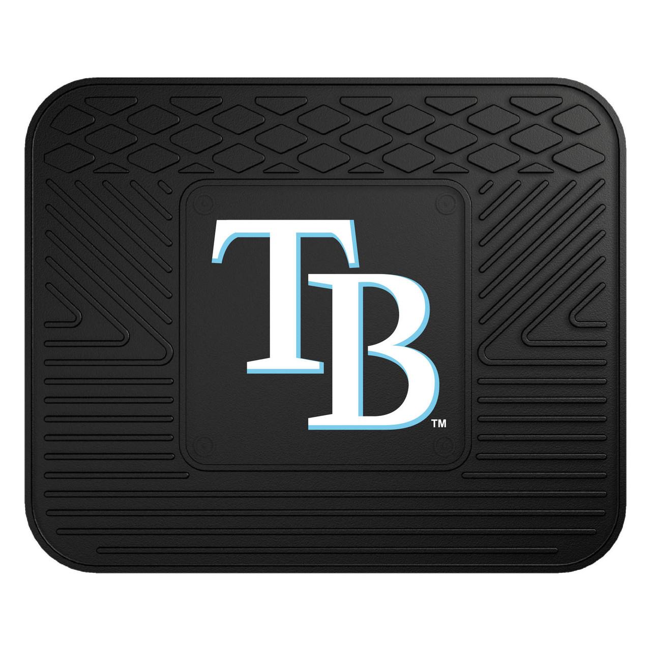 MLB TAMPA BAY RAYS 4 PIECES HEAVY DUTY RUBBER FLOOR MATS SET CAR VAN TRUCK
