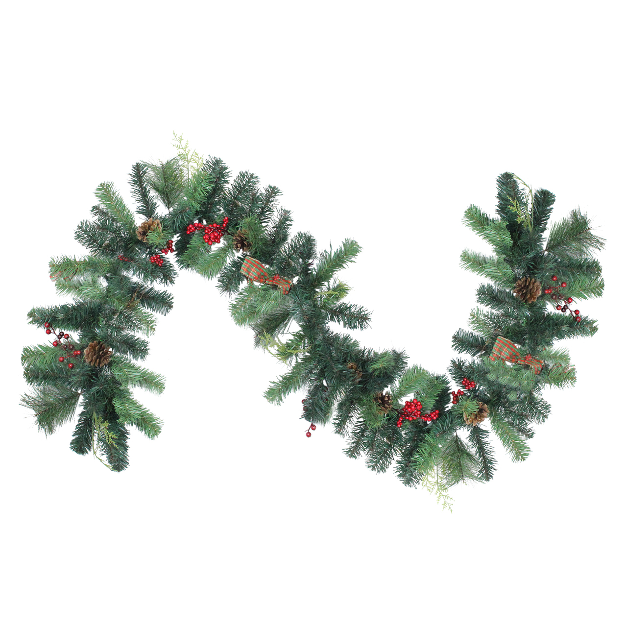 6 Foliage With Pinecone Berry Artificial Christmas Garland Unlit Christmas Central