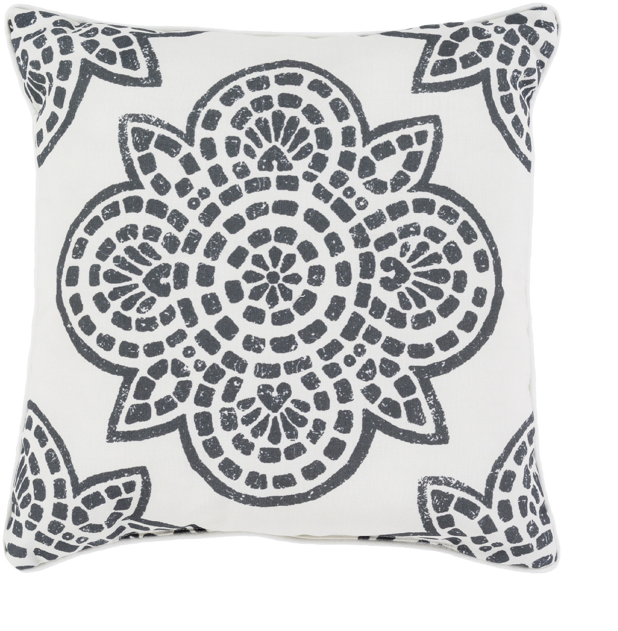 Awesome 20 White And Black Printed Designed Decorative Square Throw Pillow 31495650 Evergreenethics Interior Chair Design Evergreenethicsorg