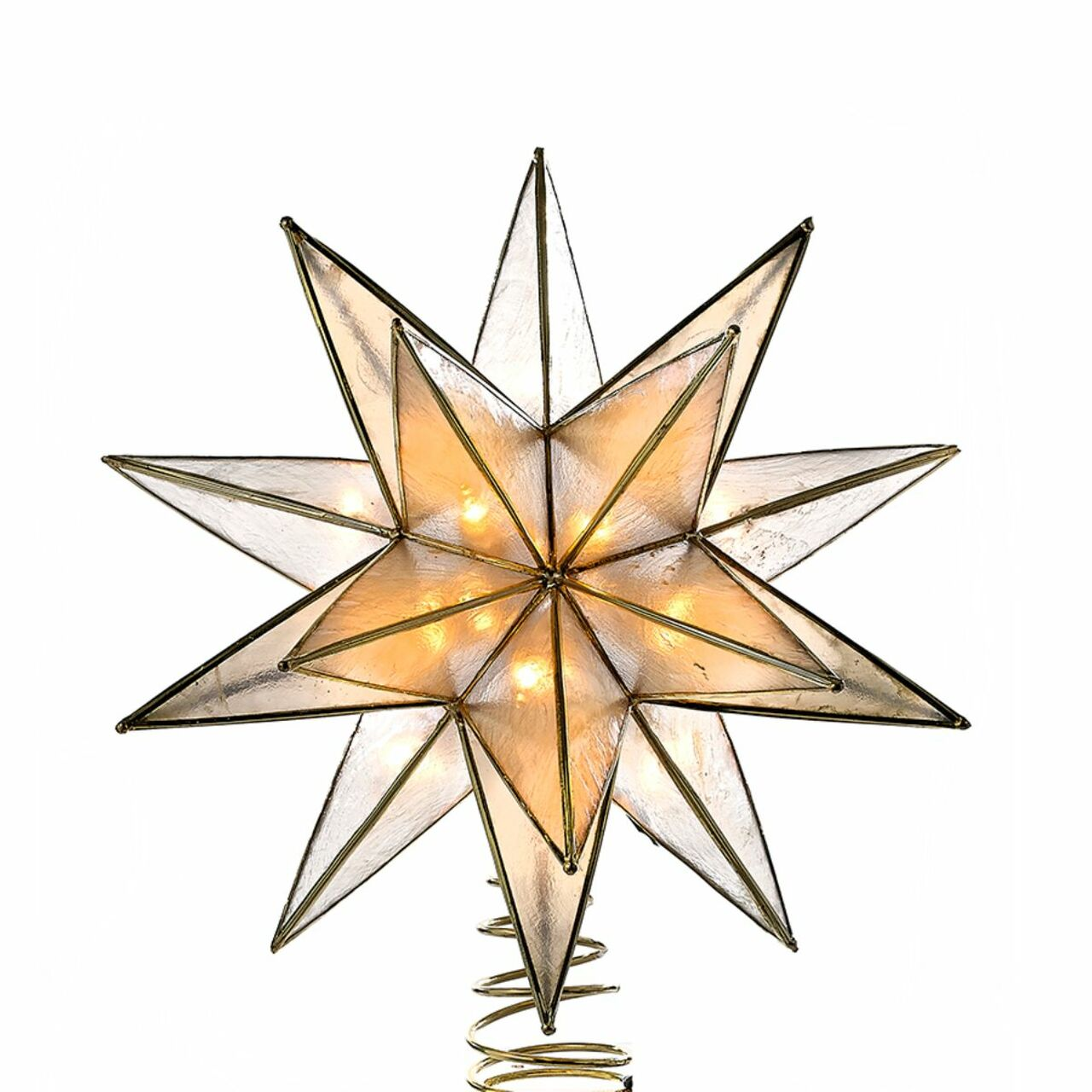 8 25 Lighted 15 Point Star Shaped Christmas Tree Topper Clear Lights 32811136