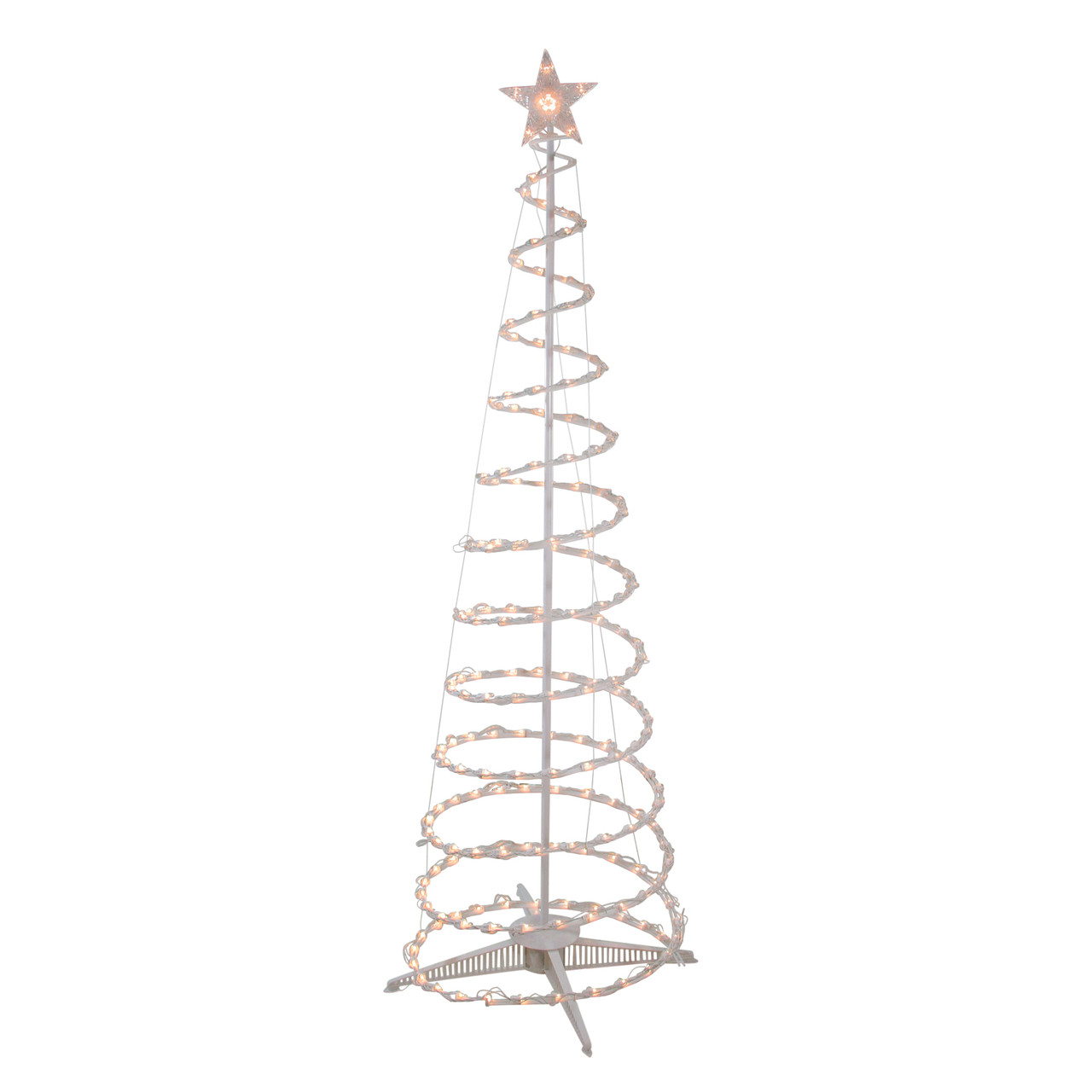 6' Clear Lighted Spiral Cone Tree Outdoor Christmas Decoration - 32912693