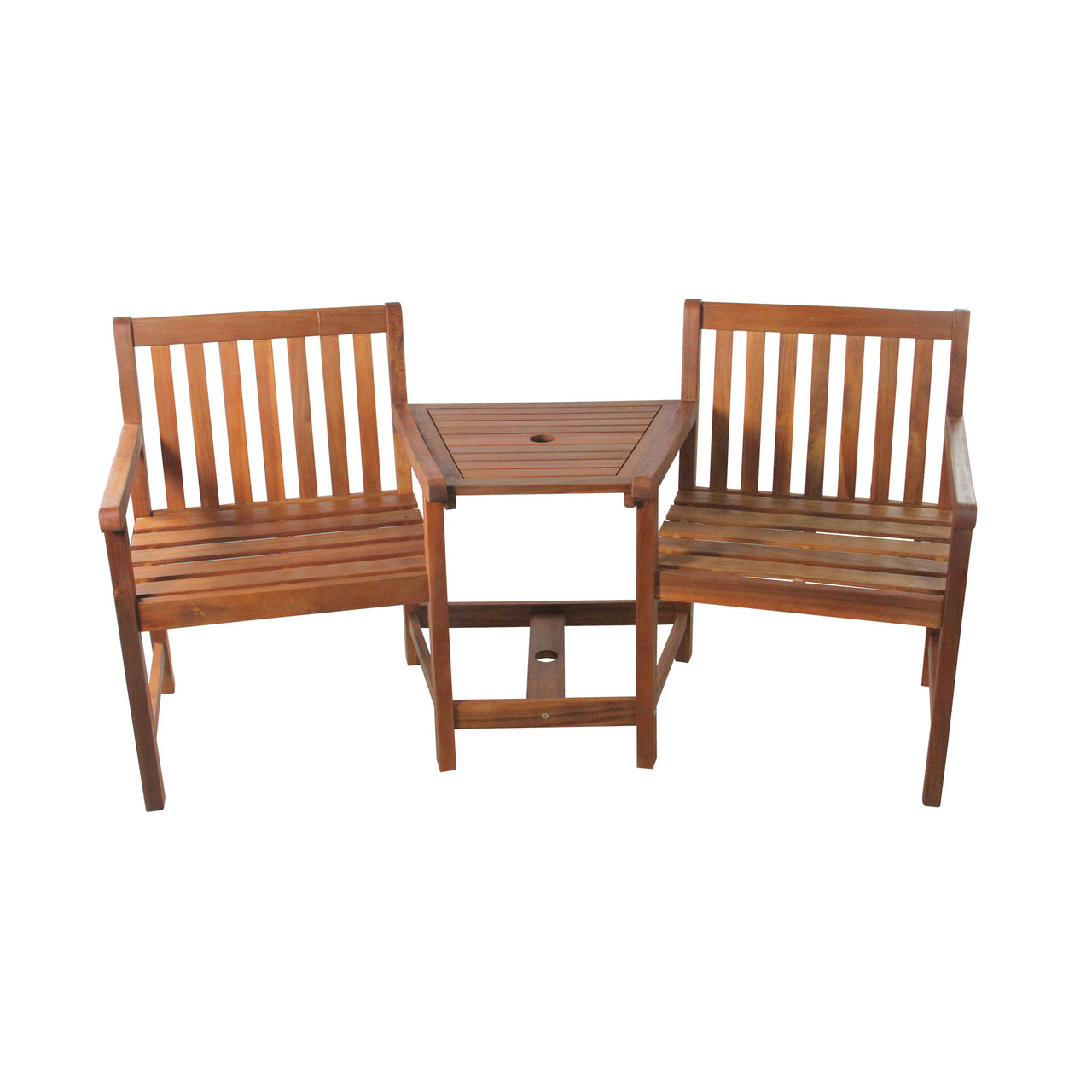 Magnificent 70 Brown Acacia Wood Jack And Jill Chair With Table Outdoor Patio Set 32825339 Lamtechconsult Wood Chair Design Ideas Lamtechconsultcom