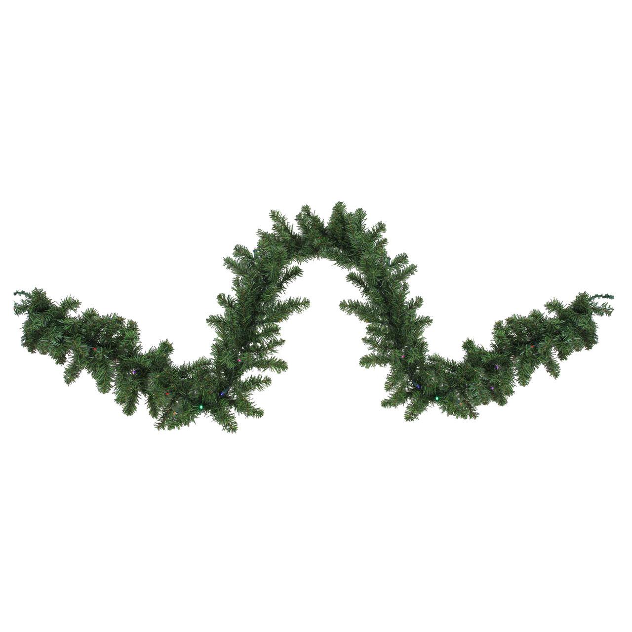 9 X 10 B O Pre Lit Led Canadian Pine Artificial Christmas Garland Multi Lights 32913198