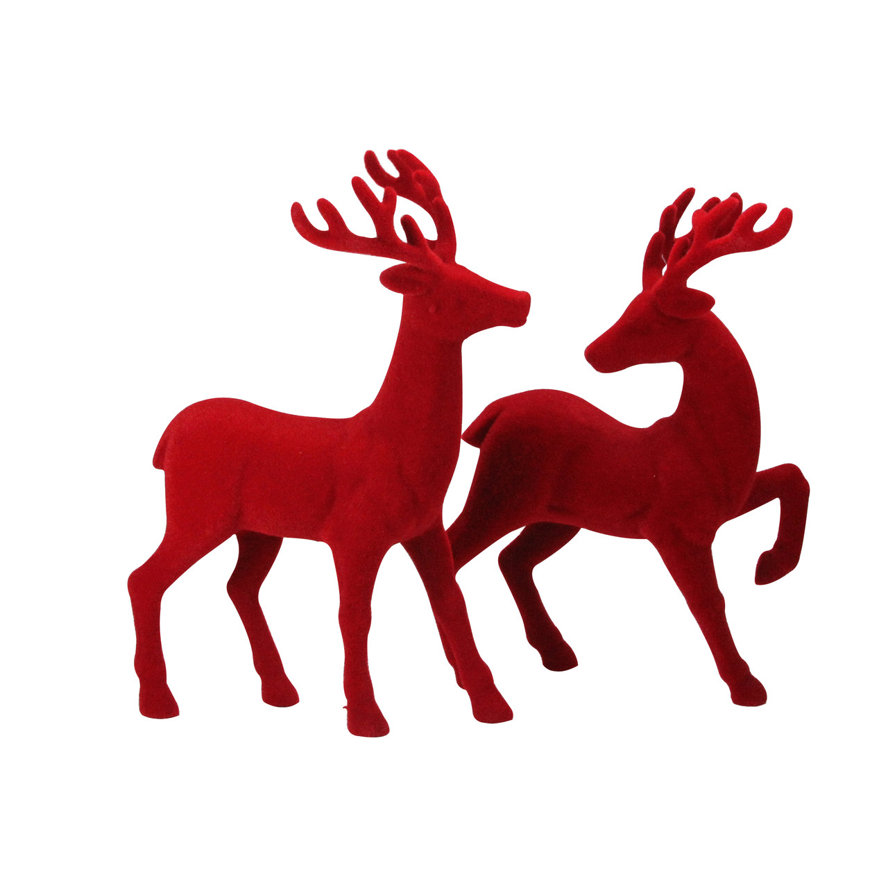 """7649a64e1 Set of 2 Red Textured Standing Reindeer Christmas Tabletop Decoration 18"""" -  32916486"""