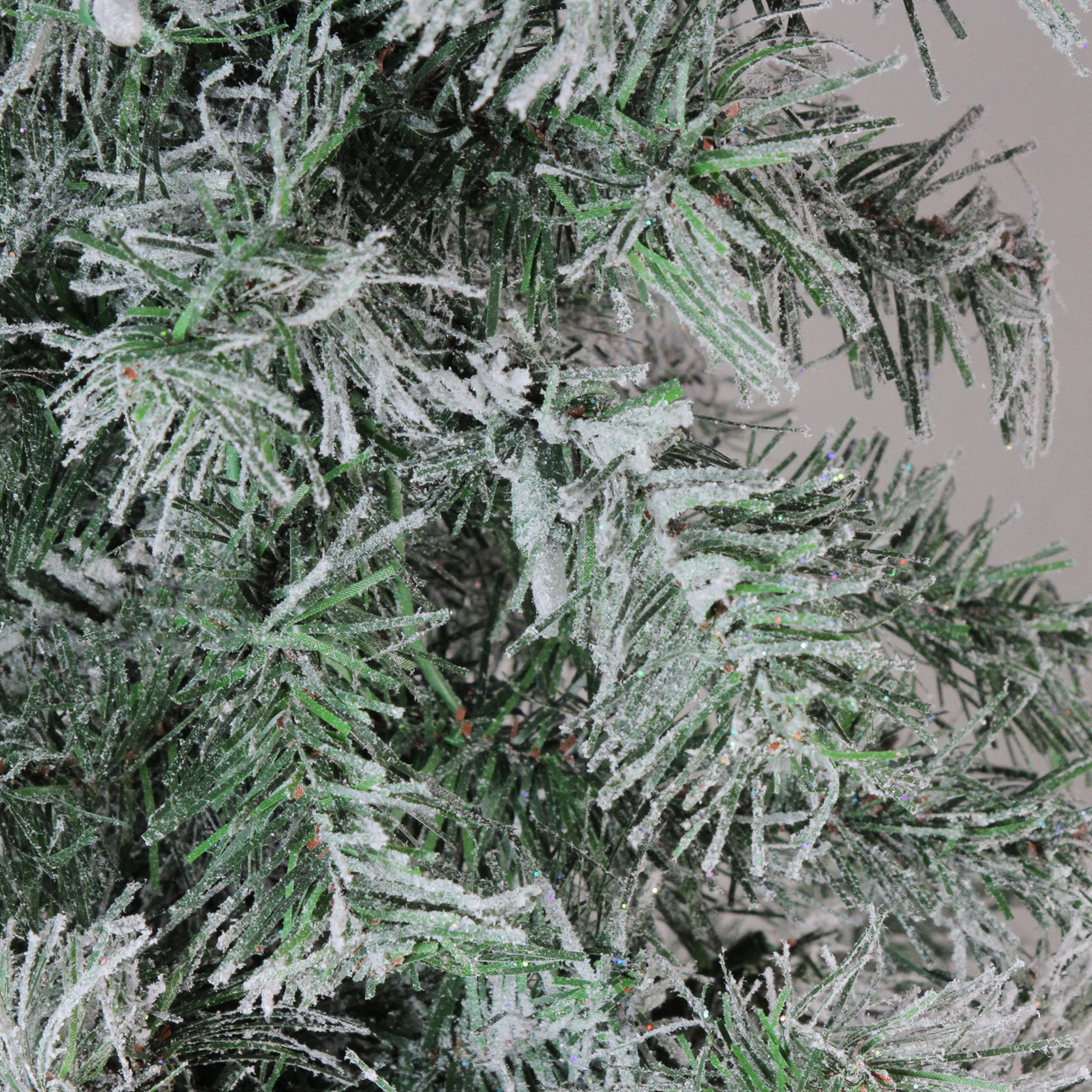 5 Lightly Flocked Glittered Woodland Alpine Artificial Christmas Tree Unlit Christmas Central