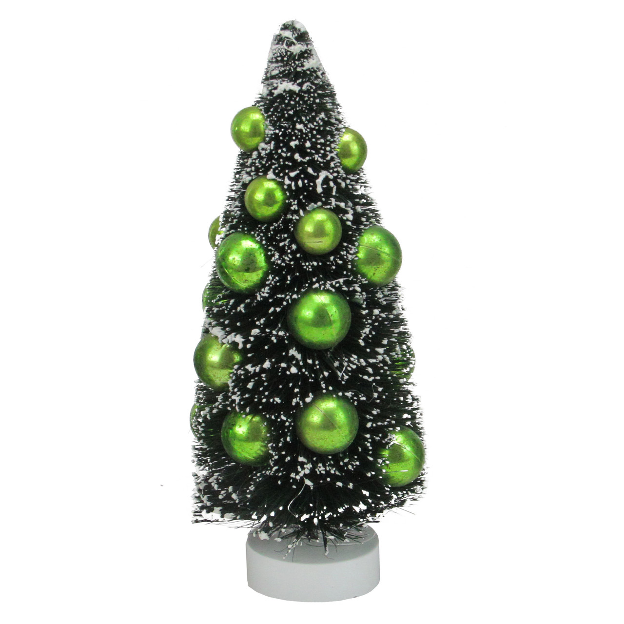 8 Green Contemporary Christmas Tree With Ball Ornaments Tabletop Decor Christmas Central