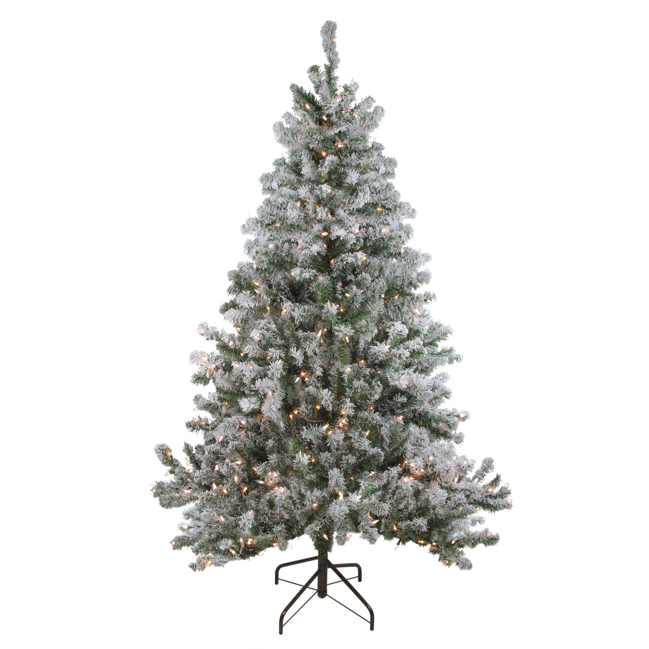 newest fc153 f1c3d 6' Pre-Lit Flocked Balsam Pine Artificial Christmas Tree - Clear Lights -  32913332