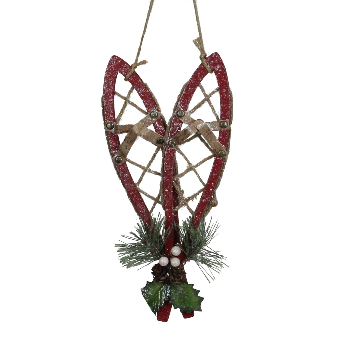 12 Red Hanging Snowshoe Christmas Wall Decoration 32923809