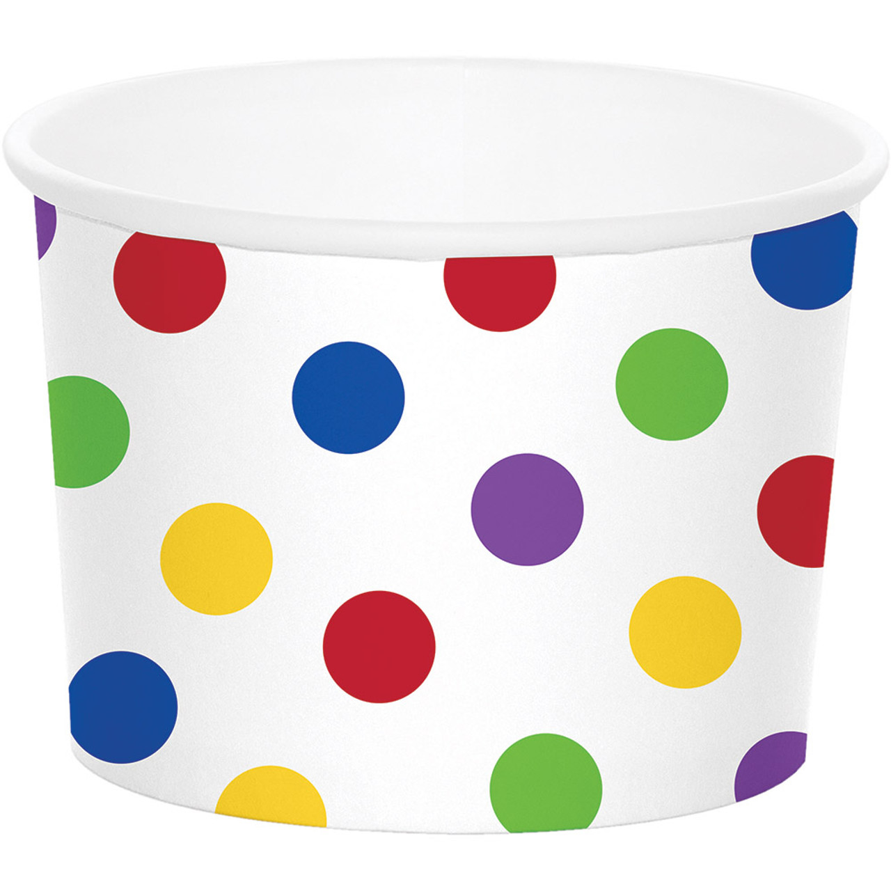 Creative Converting 329629 72-Count Paper Treat Cups Multicolor Dots