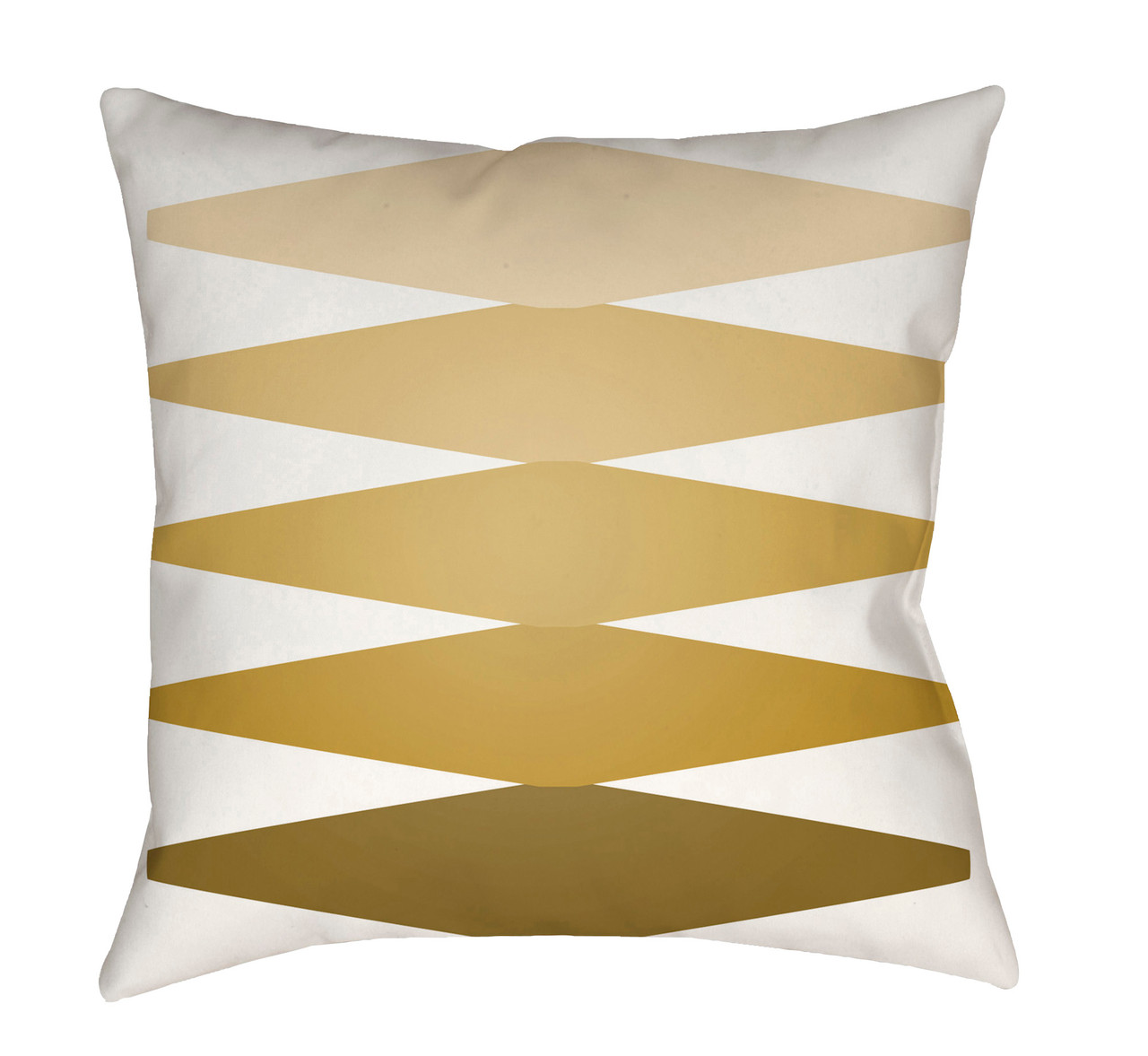 18 Mustard Yellow White Patterned Square Throw Pillow Cover Christmas Central