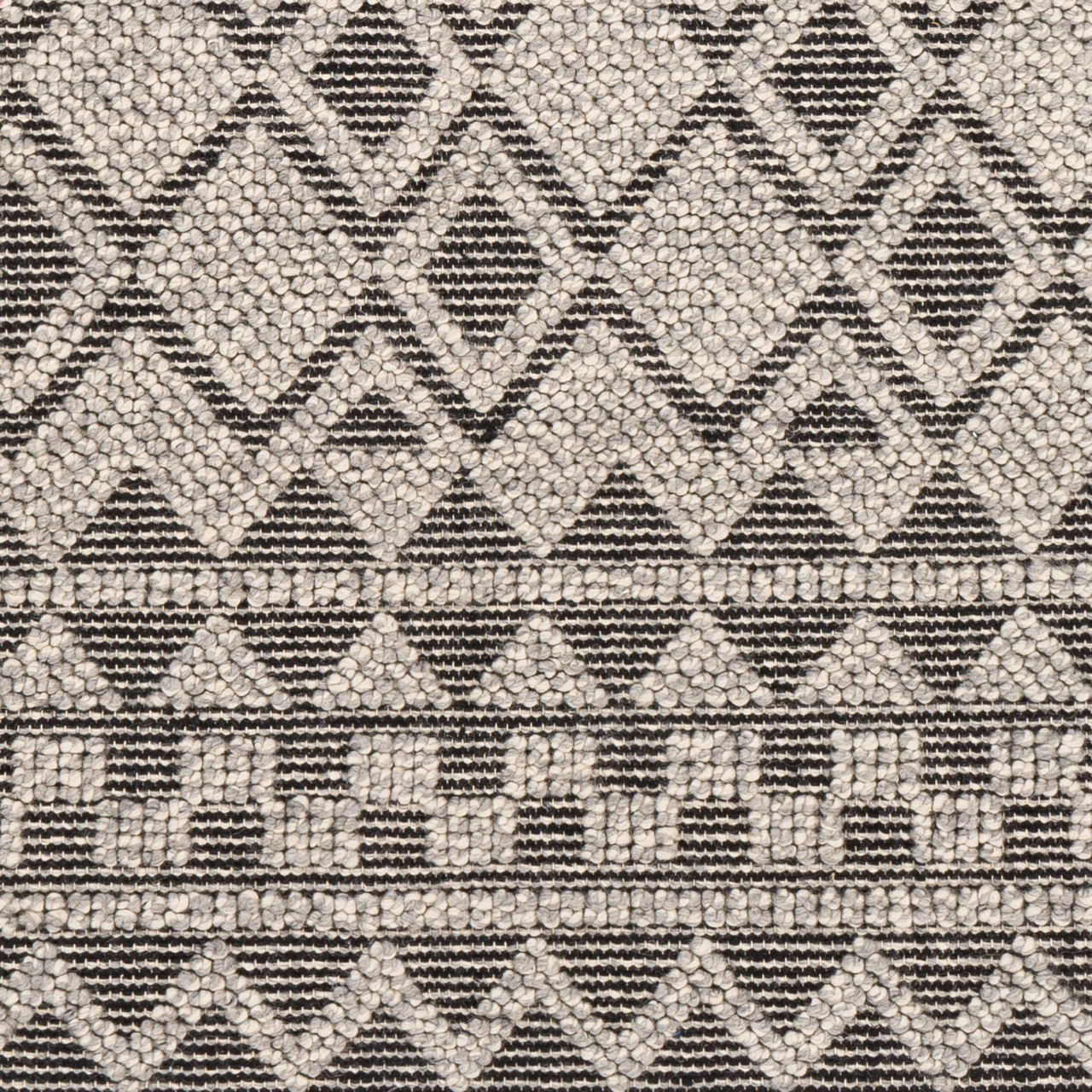 2 5 X 8 Geometric Patterned Black And Gray Rectangular Area Throw Rug Runner 33431209